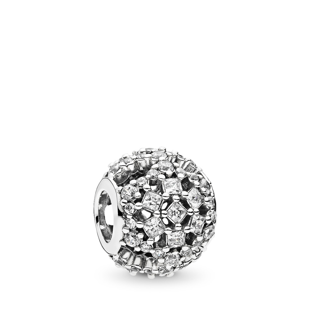 Snow Flurry Charm, Clear CZ, Sterling silver, Cubic Zirconia - PANDORA - #796378CZ