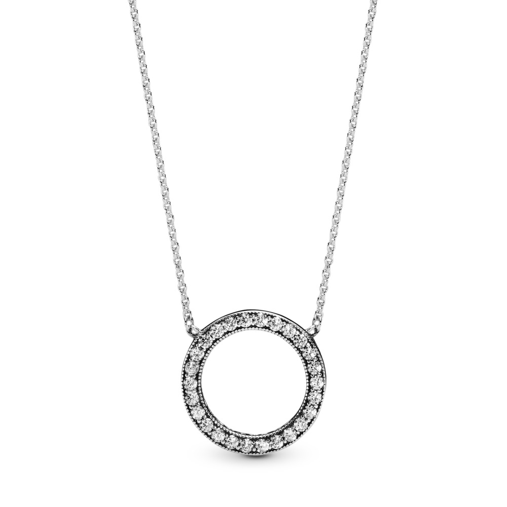 Hearts of PANDORA, Clear CZ, Sterling silver, Cubic Zirconia - PANDORA - #590514CZ