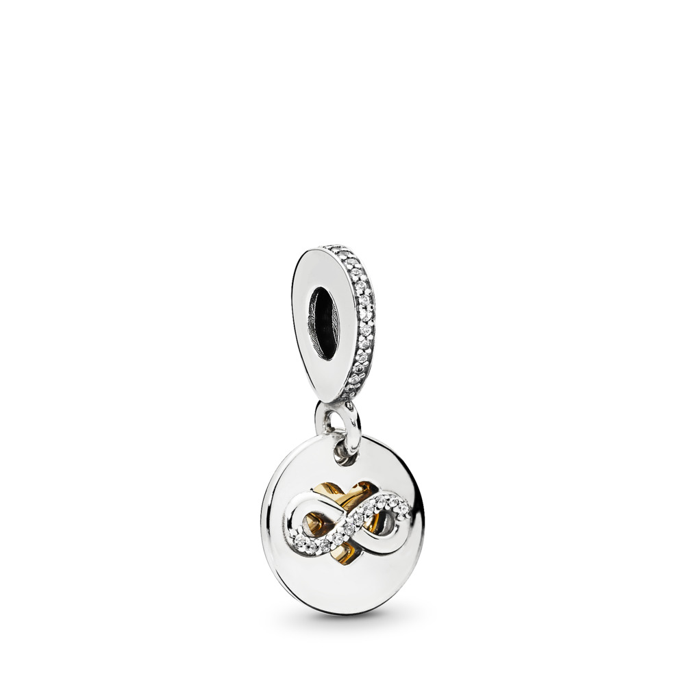 Heart of Infinity, Clear CZ, Two Tone, Cubic Zirconia - PANDORA - #796200CZ
