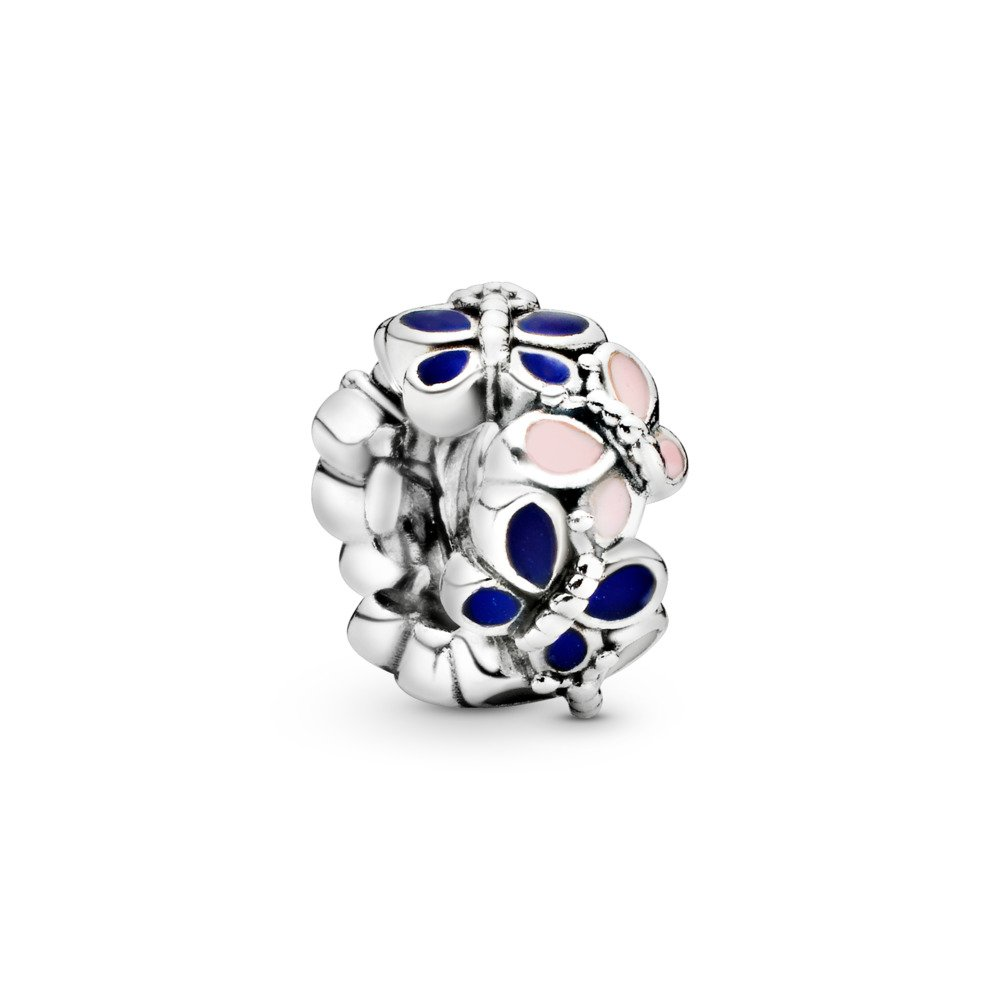 Butterfly Arrangement Spacer, Sterling silver, Enamel - PANDORA - #797870ENMX