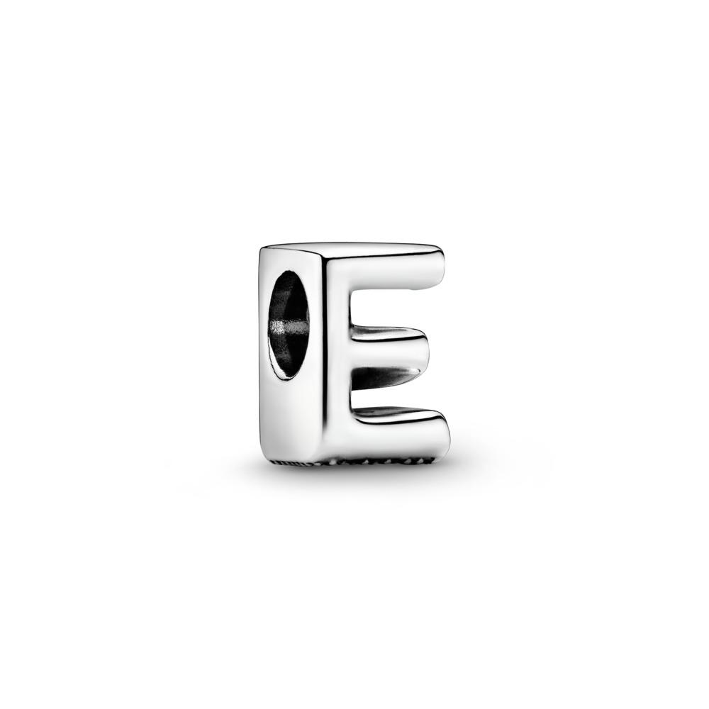 Letter E Charm, Sterling silver - PANDORA - #797459