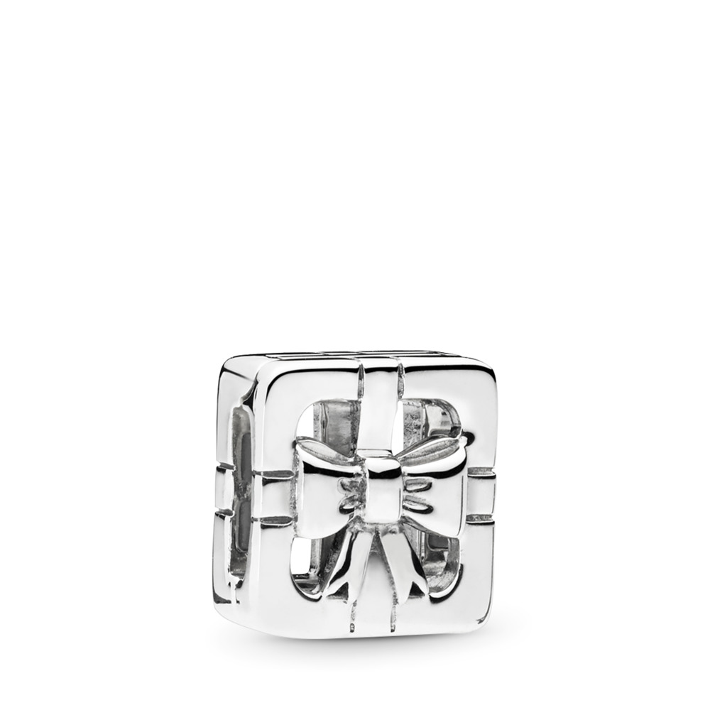 PANDORA Reflexions™ Sweet Gift Box Charm, Sterling silver, Silicone - PANDORA - #797538