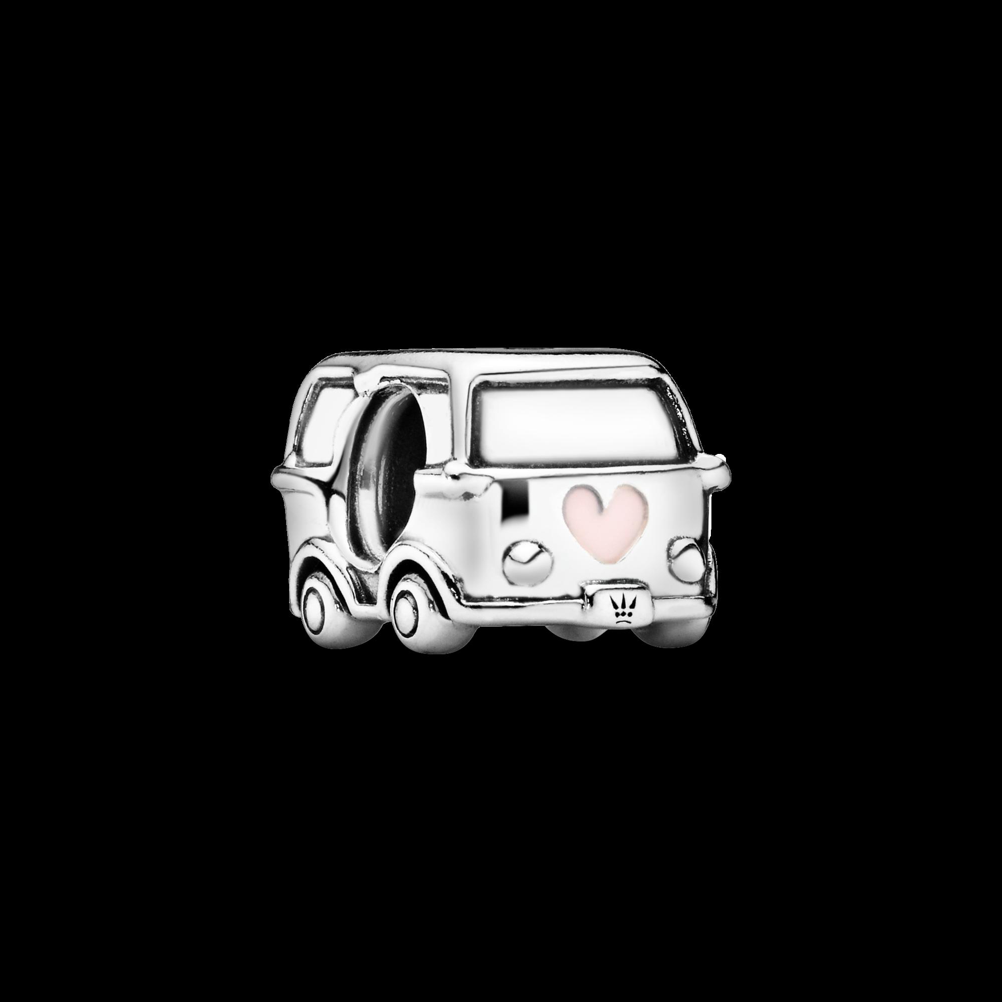 Camper Van Charm, Sterling silver, Enamel - PANDORA - #797871EN160