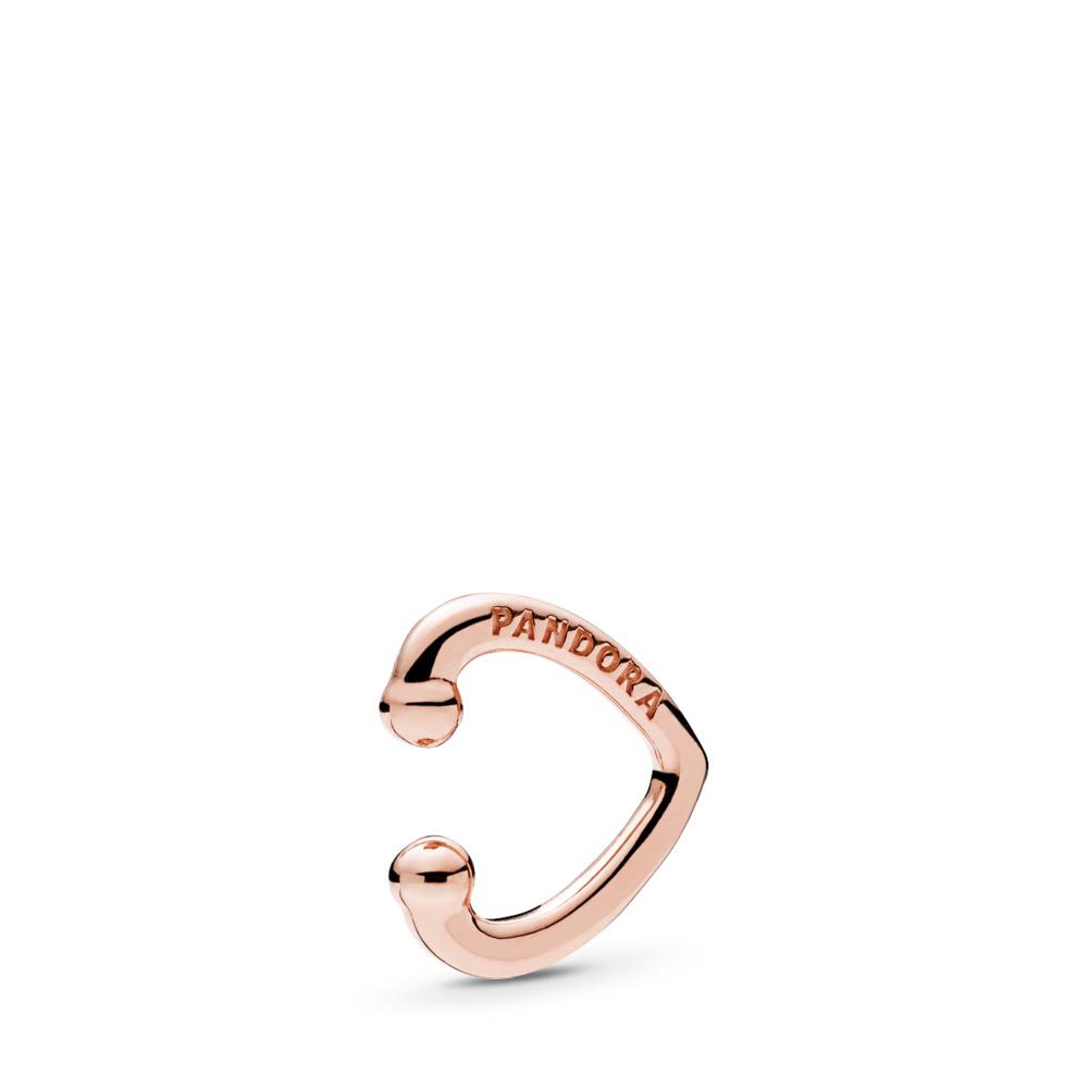 Manchette d'oreille Cœur ouvert, PANDORA Rose, PANDORA ROSE, Aucun autre matériel, Aucune couleur, Aucune pierre - PANDORA - #287214