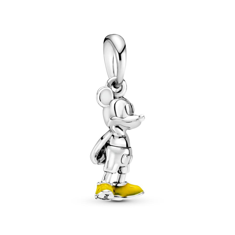 Pendentif Disney, Mickey classique, émail jaune, Argent sterling, émail, Jaune, Aucune pierre - PANDORA - #397394EN06