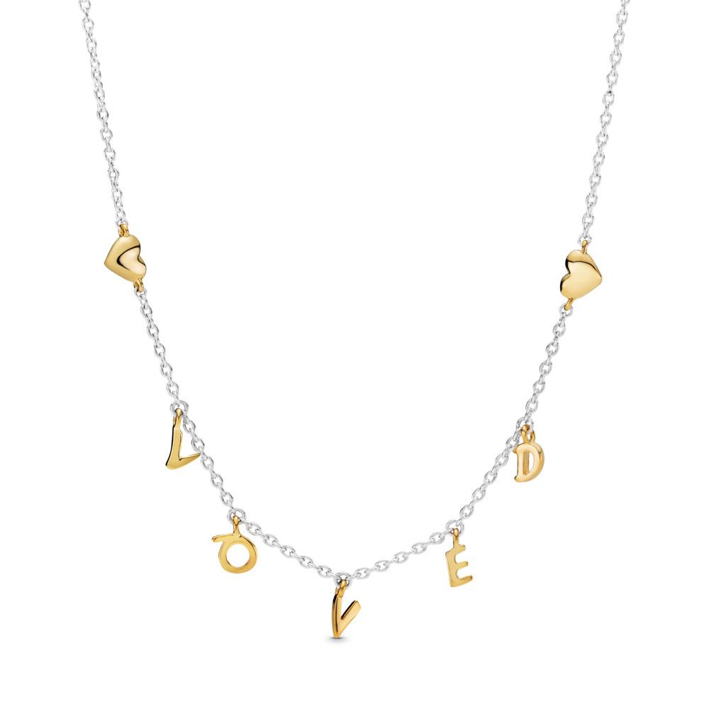 Collier Tracé Loved, PANDORA Shine and sterling silver, Aucun autre matériel, Aucune couleur, Aucune pierre - PANDORA - #367818