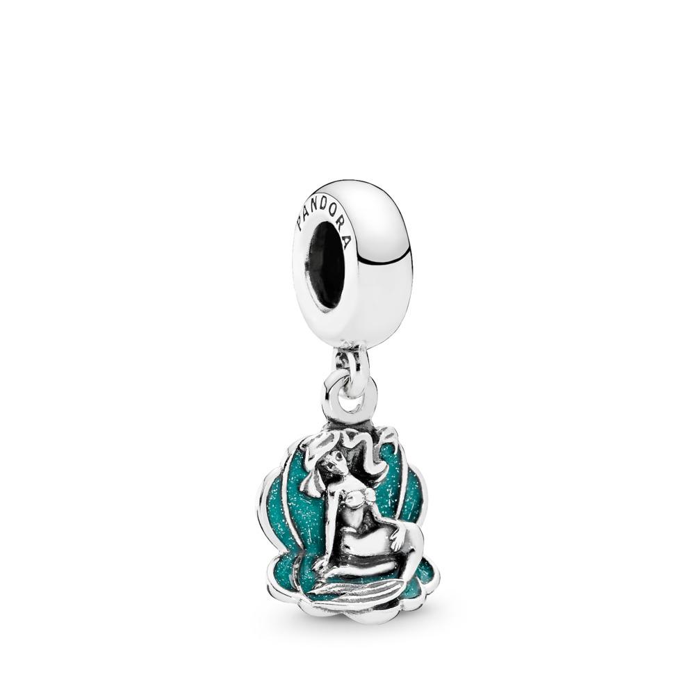 Disney, Ariel & Sea Shell, Seafoam Green Enamel, Sterling silver, Enamel, Green - PANDORA - #791895EN111