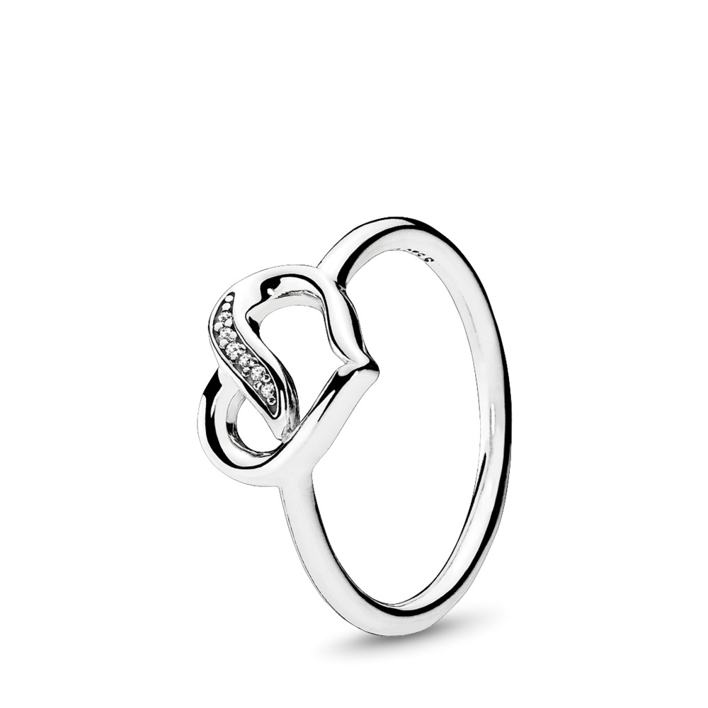 d49f849a7 Dreams of Love Ring, Clear CZ, Sterling silver, Cubic Zirconia - PANDORA -