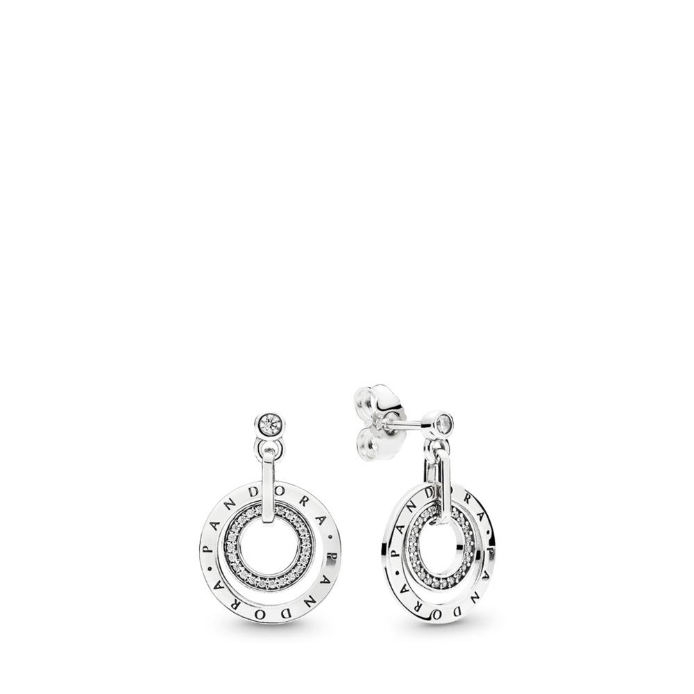 PANDORA Circles, Clear CZ, Sterling silver, Cubic Zirconia - PANDORA - #296296CZ