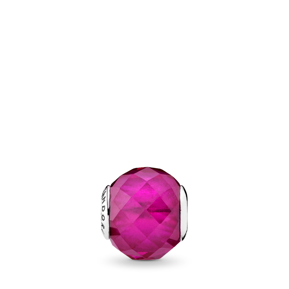 HAPPINESS, Synthetic Ruby, Sterling silver, Silicone, Red, Synthetic Ruby - PANDORA - #796076SRU