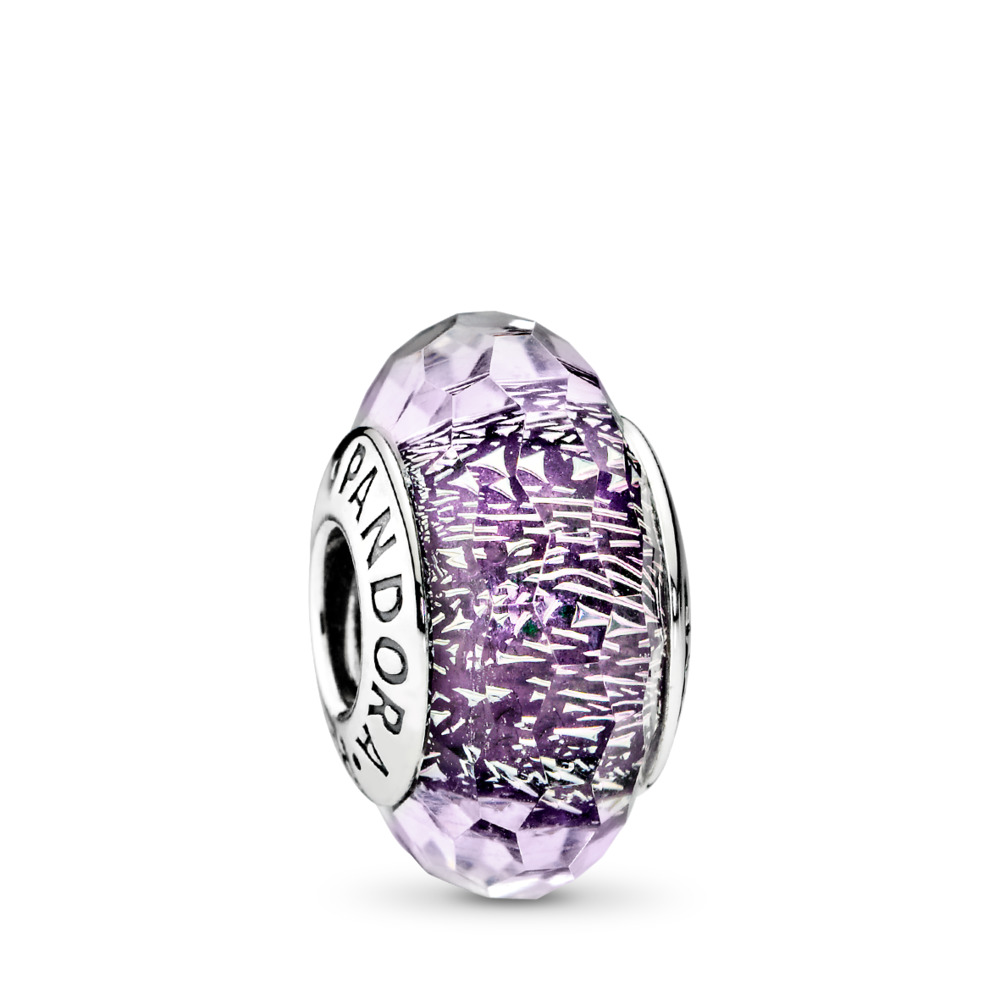 Dark Purple Shimmer, Sterling silver, Glass, Purple - PANDORA - #791663
