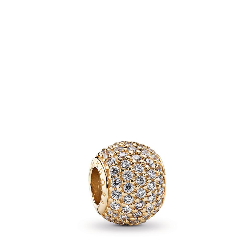 Pavé Lights, Clear CZ & 14K Gold, Yellow Gold 14 k, Cubic Zirconia - PANDORA - #750819CZ
