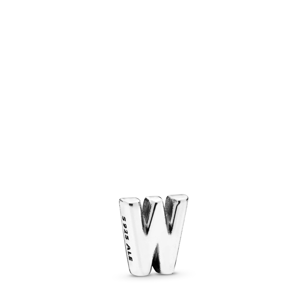 Letter W Petite Charm, Sterling silver - PANDORA - #797341