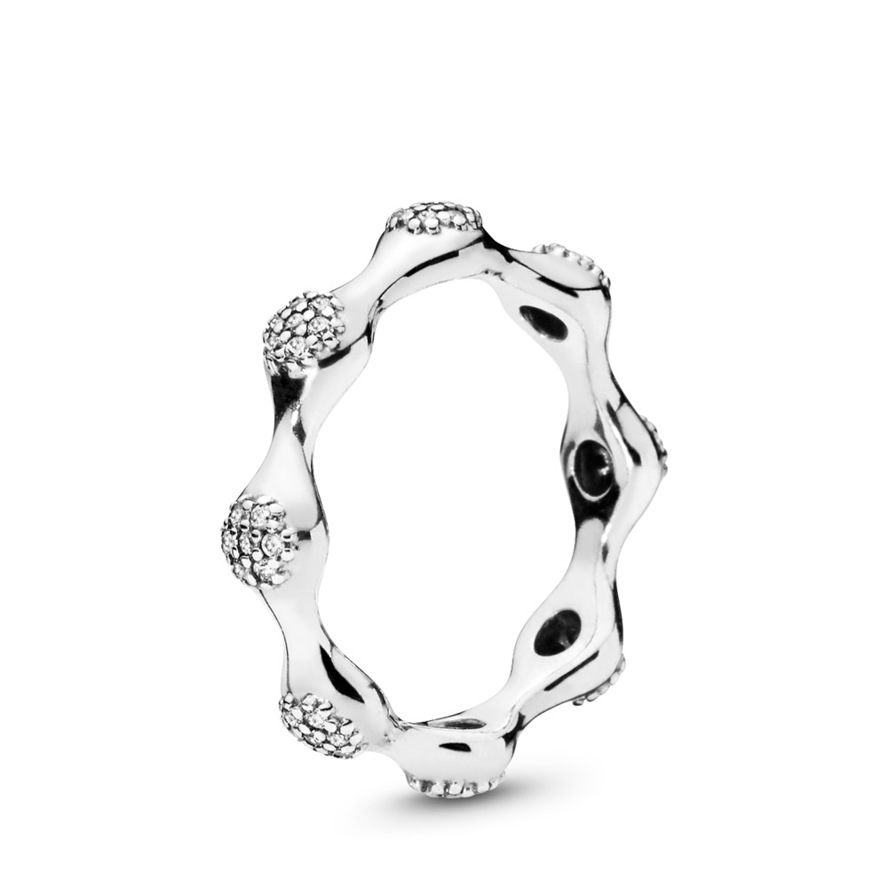 Modern LovePods™ Sterling Silver Ring, Clear CZ, Sterling silver, Cubic Zirconia - PANDORA - #197295CZ