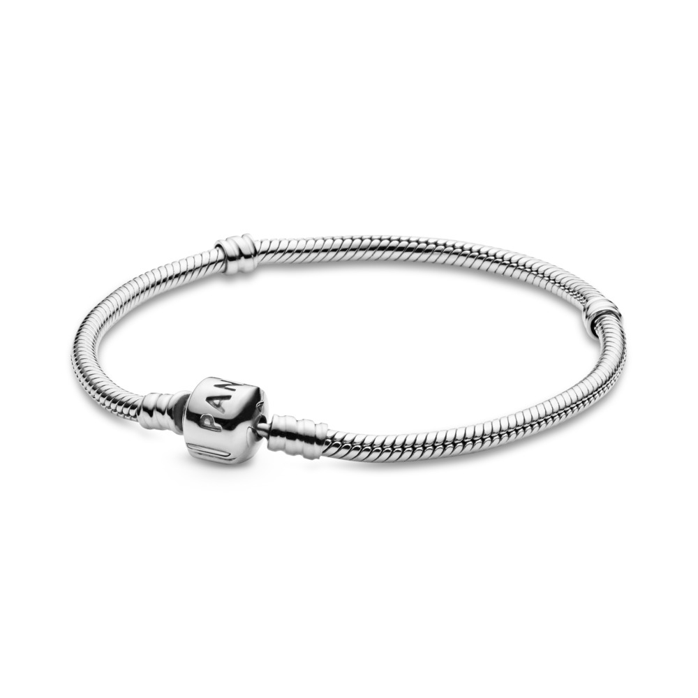 Moments Snake Chain Bracelet, Sterling silver - PANDORA - #590702HV