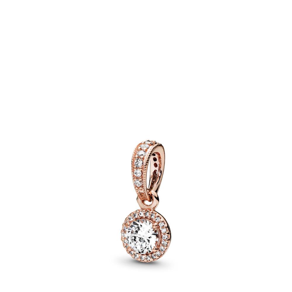 Classic Elegance, PANDORA Rose™ & Clear CZ, PANDORA Rose, Cubic Zirconia - PANDORA - #380379CZ