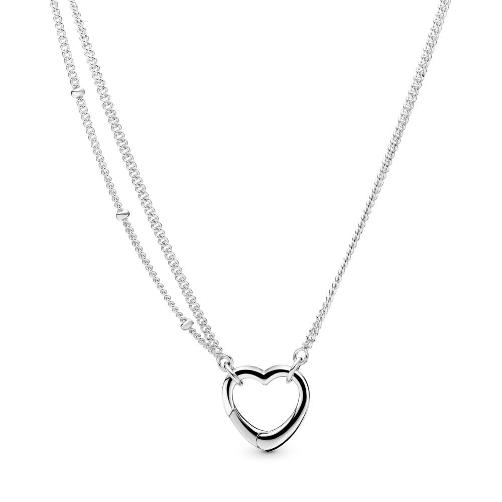 Collier Cœur ouvert, Argent sterling, Aucun autre matériel, Aucune couleur, Aucune pierre - PANDORA - #397204