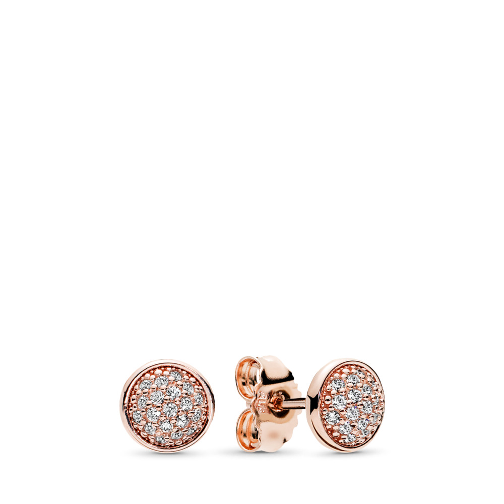 Dazzling Droplets, PANDORA Rose™ & Clear CZ, PANDORA Rose, Cubic Zirconia - PANDORA - #280726CZ