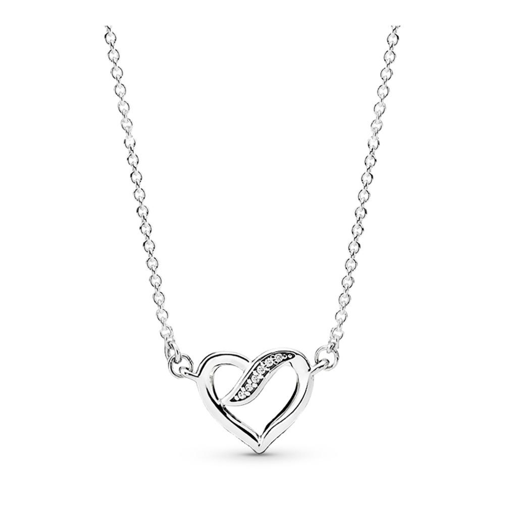 Dreams of Love Necklace, Clear CZ, Sterling silver, Cubic Zirconia - PANDORA - #590535CZ
