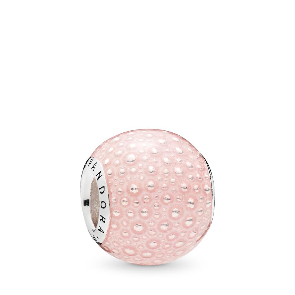 Charm Enchantement rose, émail rose transparent, Argent sterling, émail, Rose, Aucune pierre - PANDORA - #797091EN160