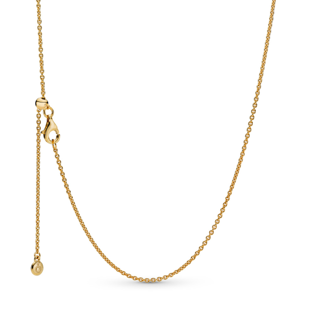 PANDORA Shine™ Necklace, 18ct gold-plated sterling silver, Silicone - PANDORA - #367080