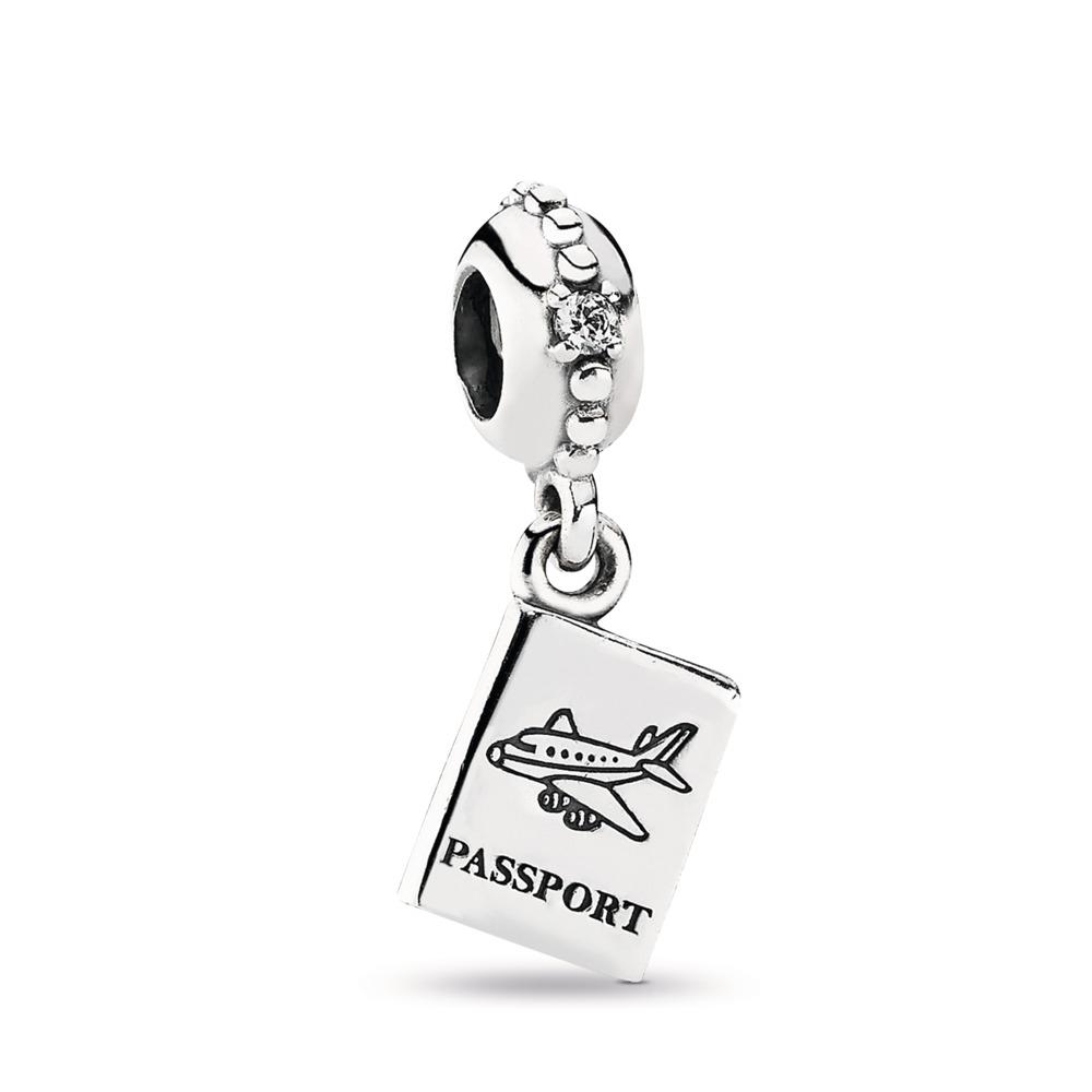 Adventure Awaits, Clear CZ, Sterling silver, Cubic Zirconia - PANDORA - #791147CZ