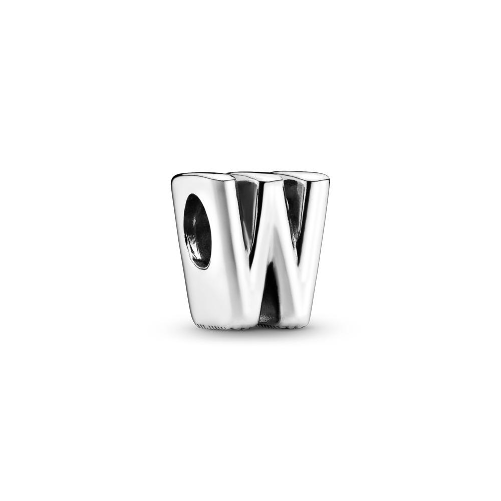 Charm Lettre W, Argent sterling, Aucun autre matériel, Aucune couleur, Aucune pierre - PANDORA - #797477