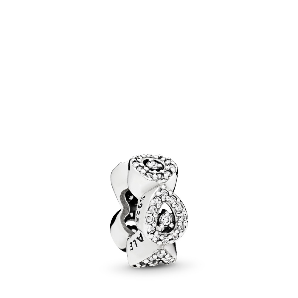 Cascading Glamour, Clear CZ, Sterling silver, Cubic Zirconia - PANDORA - #796270CZ