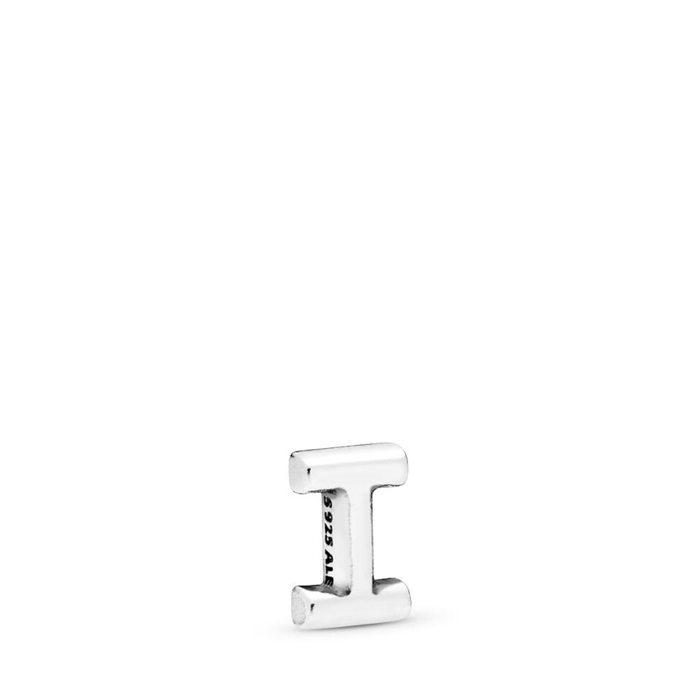 Mini Lettre I, Argent sterling, Aucun autre matériel, Aucune couleur, Aucune pierre - PANDORA - #797327