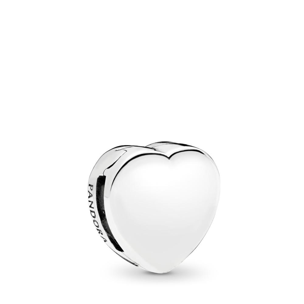 PANDORA Reflexions™ Heart Clip Charm, Sterling silver, Silicone - PANDORA - #797620
