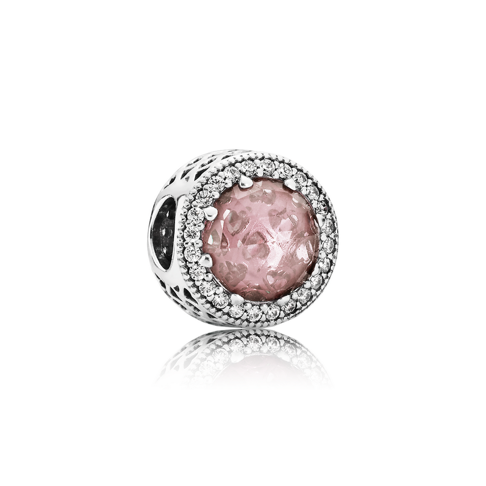 Radiant Hearts, Blush Pink Crystal & Clear CZ