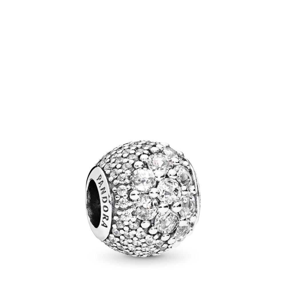 Enchanted Pavé Charm, Clear CZ, Sterling silver, Cubic Zirconia - PANDORA - #797032CZ