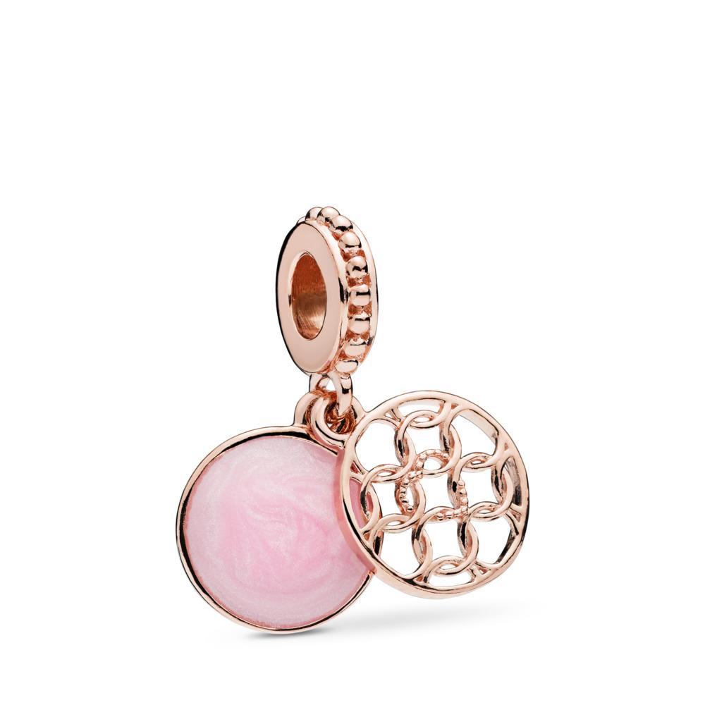 Charm pendentif Motif d'amour, PANDORA Rose et émail rose, PANDORA ROSE, émail, Rose, Aucune pierre - PANDORA - #787040EN153