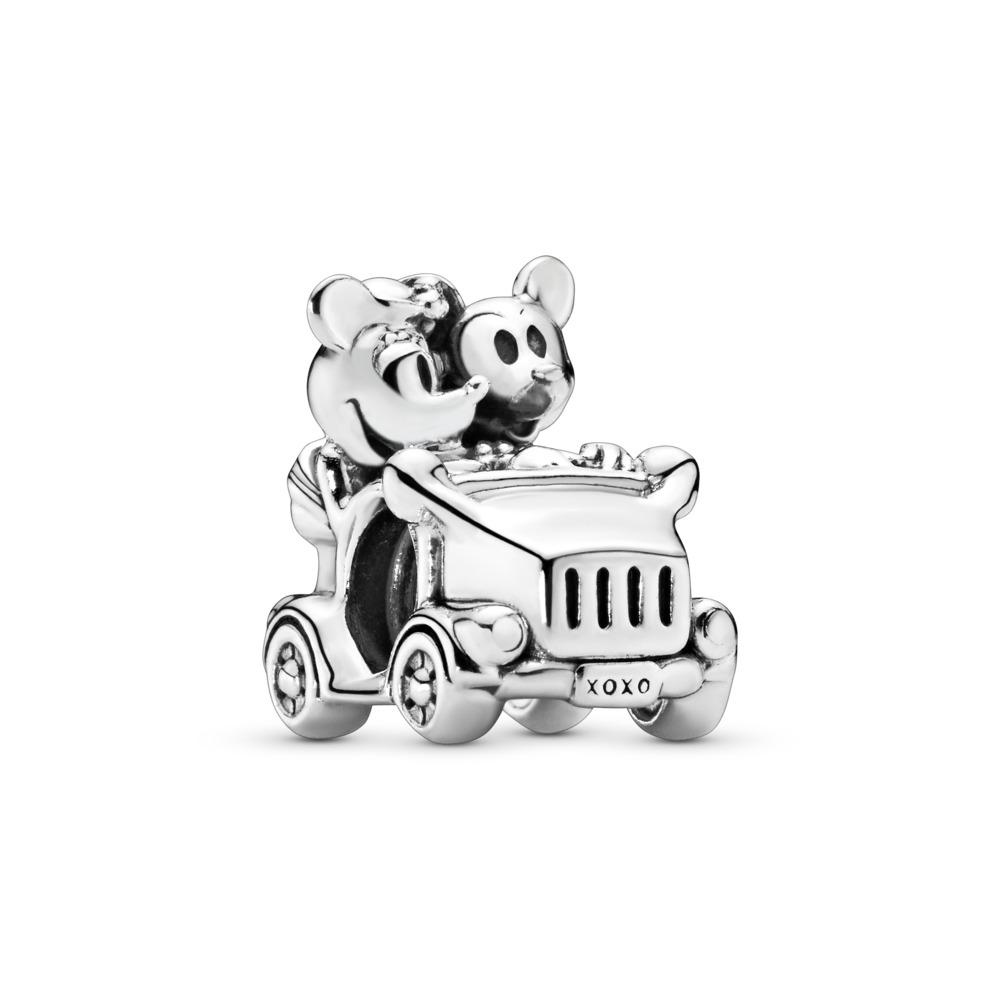Disney, Mickey & Minnie Vintage Car Charm, Sterling silver - PANDORA - #797174