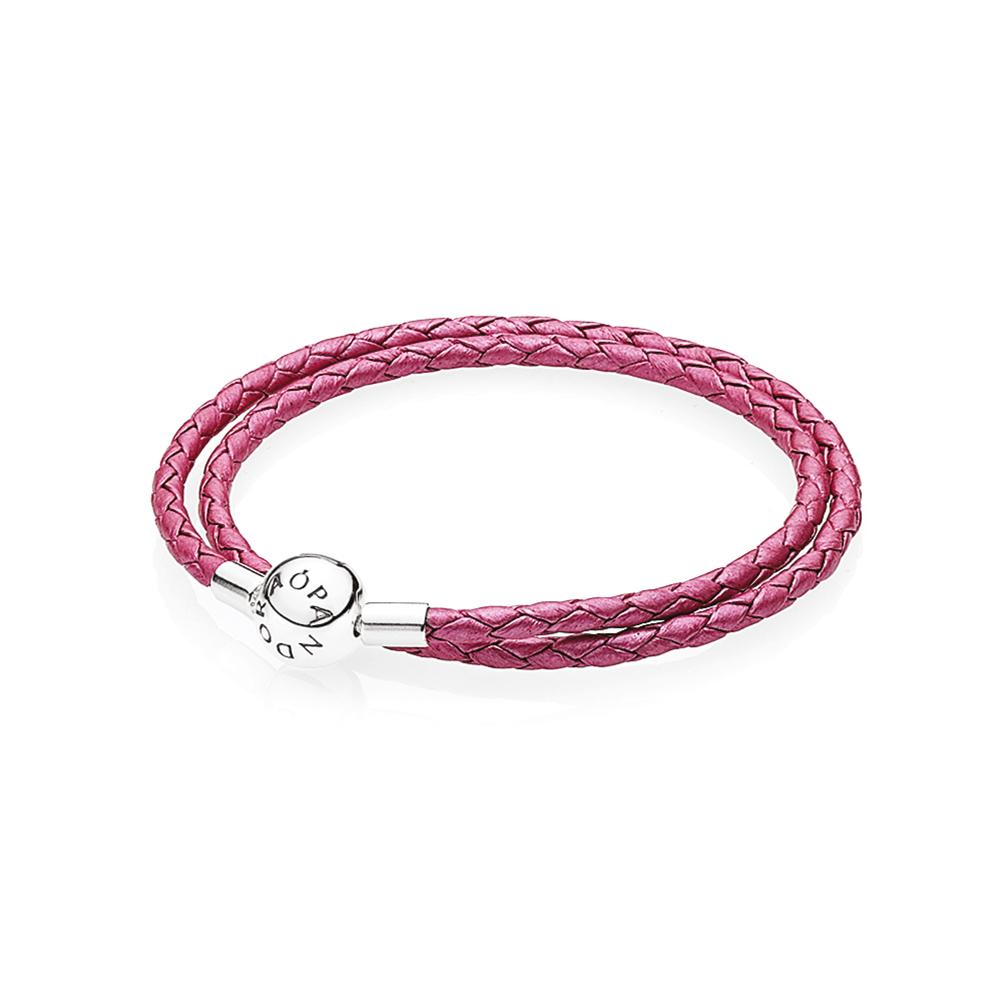 Bracelet Cuir Rose Chèvrefeuille