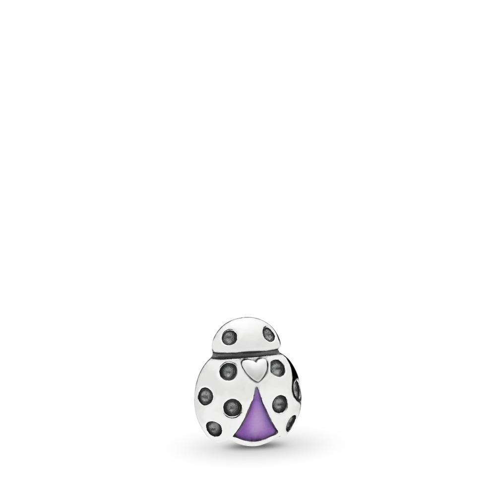 Ladybug Petite Charm, Sterling silver, Enamel, Purple - PANDORA - #797050EN159