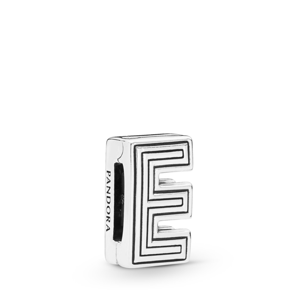 Pandora Reflexions™ Letter E Charm, Sterling silver, Silicone - PANDORA - #798201