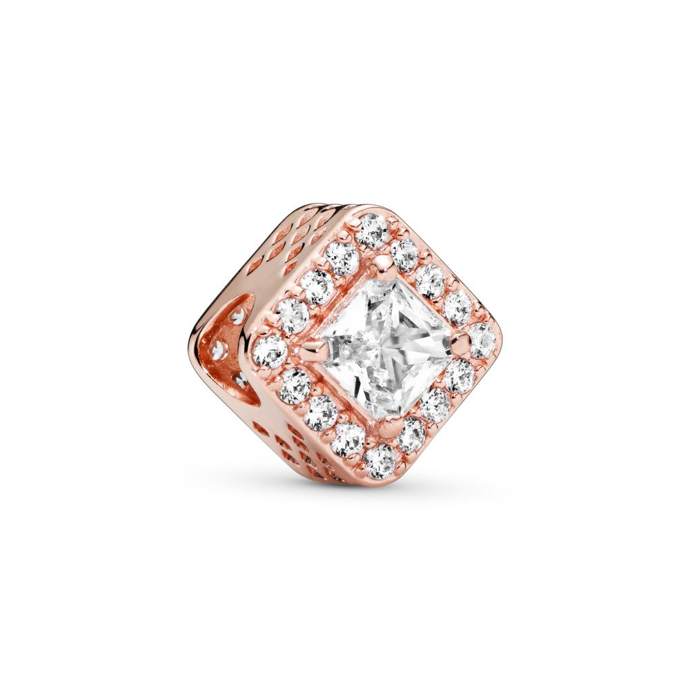 Geometric Radiance, PANDORA Rose™ & Clear CZ, PANDORA Rose, Cubic Zirconia - PANDORA - #786206CZ