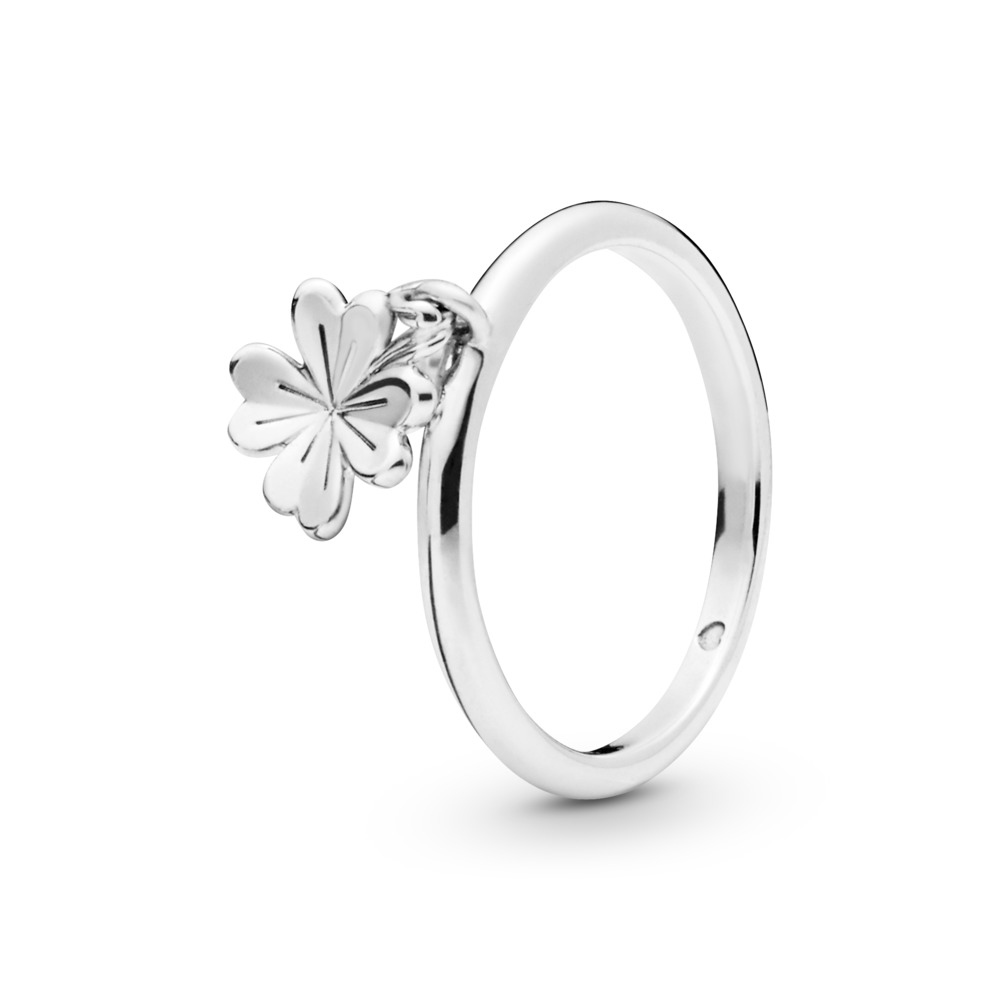 Dangling Clover Ring, Sterling silver - PANDORA - #197938