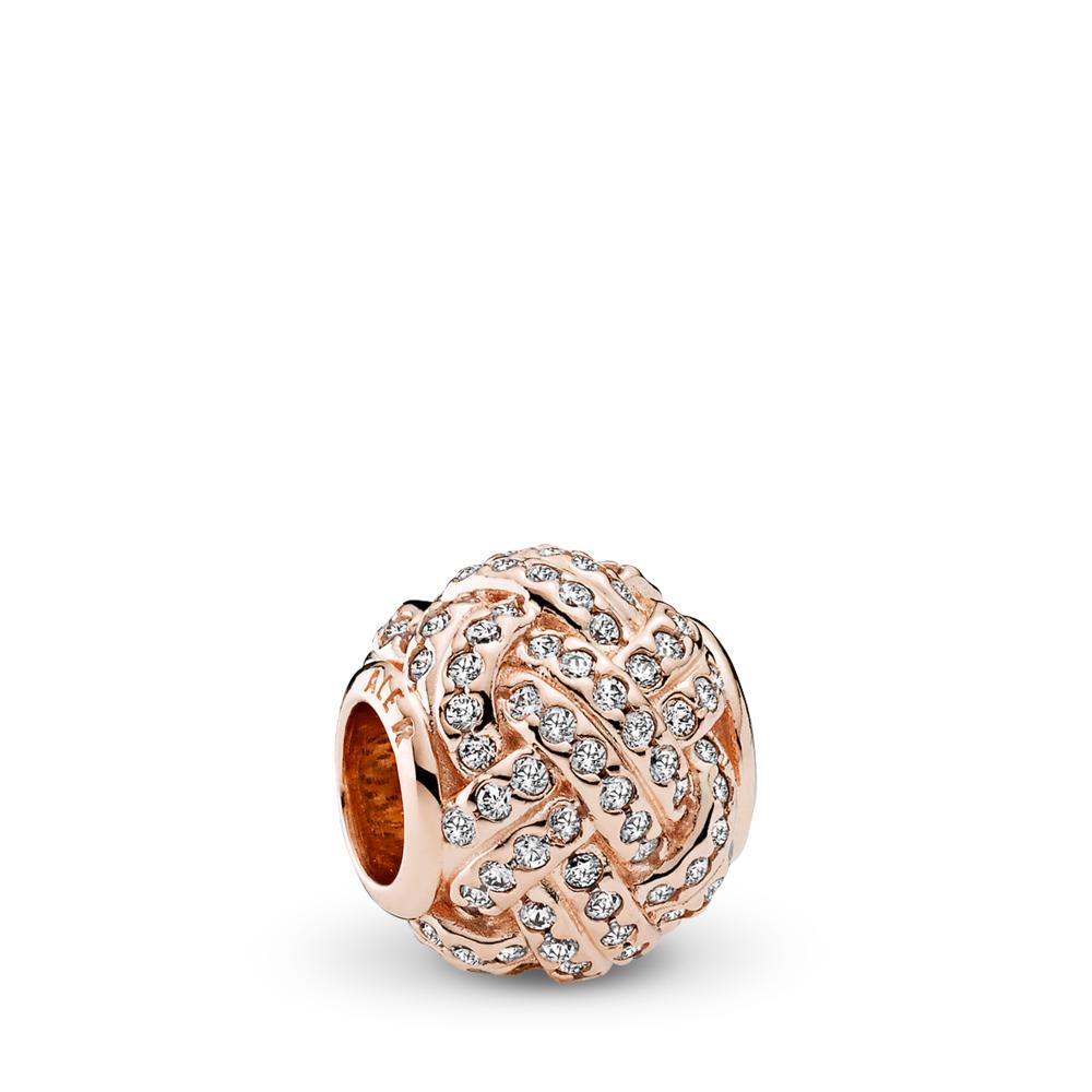 Destin entrelacé, Rose, cz incolore, PANDORA ROSE, Aucun autre matériel, Aucune couleur, Zircon cubique - PANDORA - #781537CZ