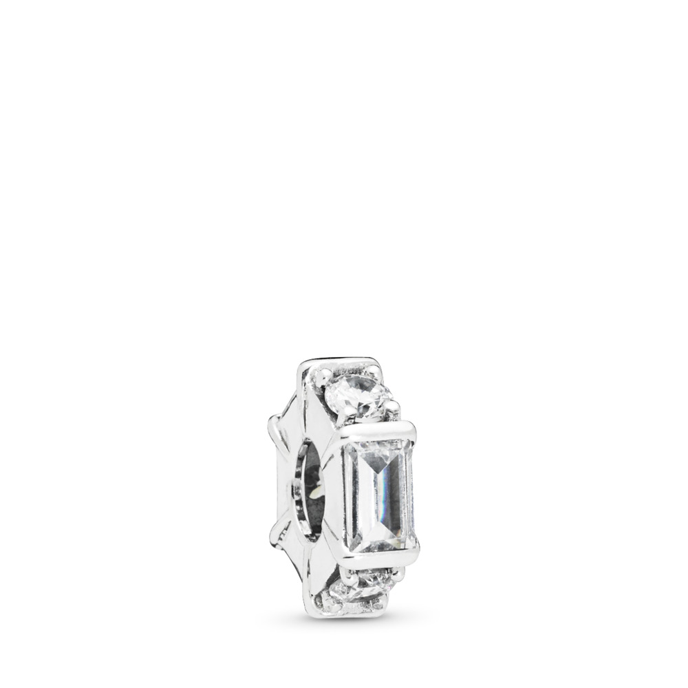 Ice Sculpture Clear CZ Spacer, Sterling silver, Cubic Zirconia - PANDORA - #797529CZ