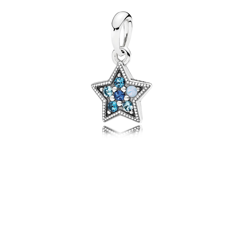 Charm pendentif Étoile lumineuse, cristaux multicolores