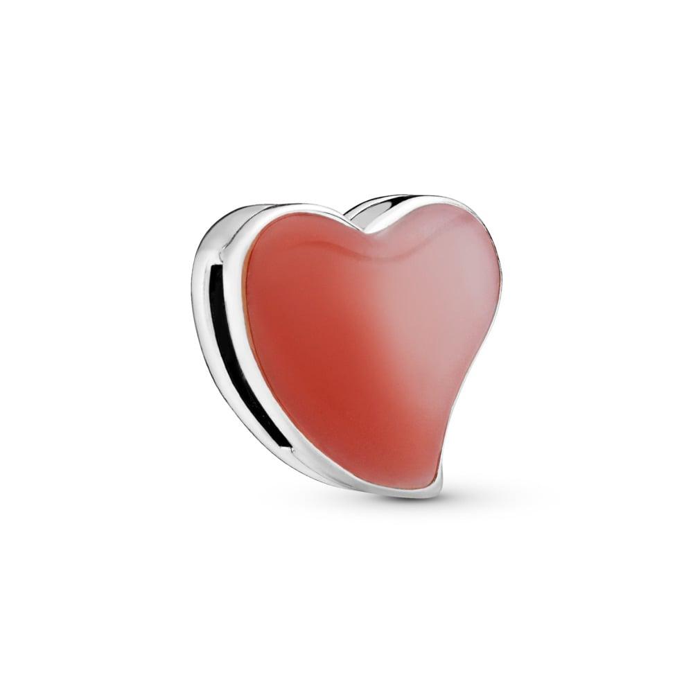 Charm Cœur d'amour asymétrique PANDORA Reflexions, Argent sterling, émail, Aucune couleur, Aucune pierre - PANDORA - #797809ENMX