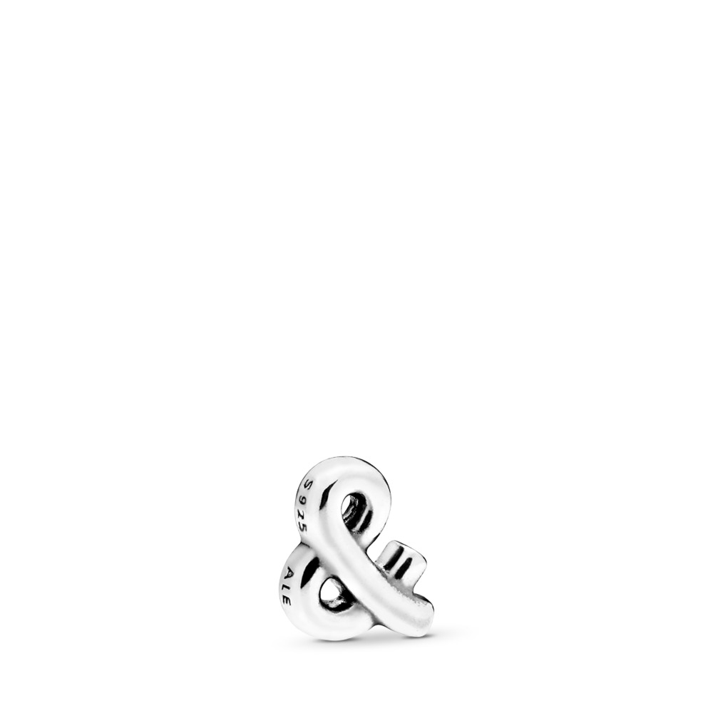 Ampersand Sign Petite Charm, Sterling silver - PANDORA - #797324