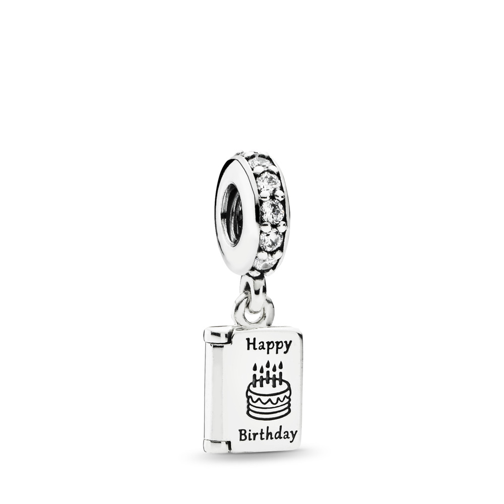 Birthday Wishes, Clear CZ, Sterling silver, Cubic Zirconia - PANDORA - #791723CZ