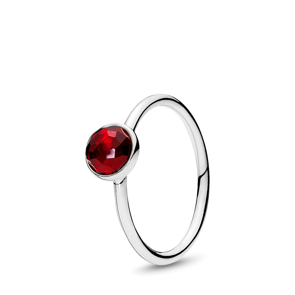 July Droplet, Synthetic Ruby, Sterling silver, Red, Synthetic Ruby - PANDORA - #191012SRU