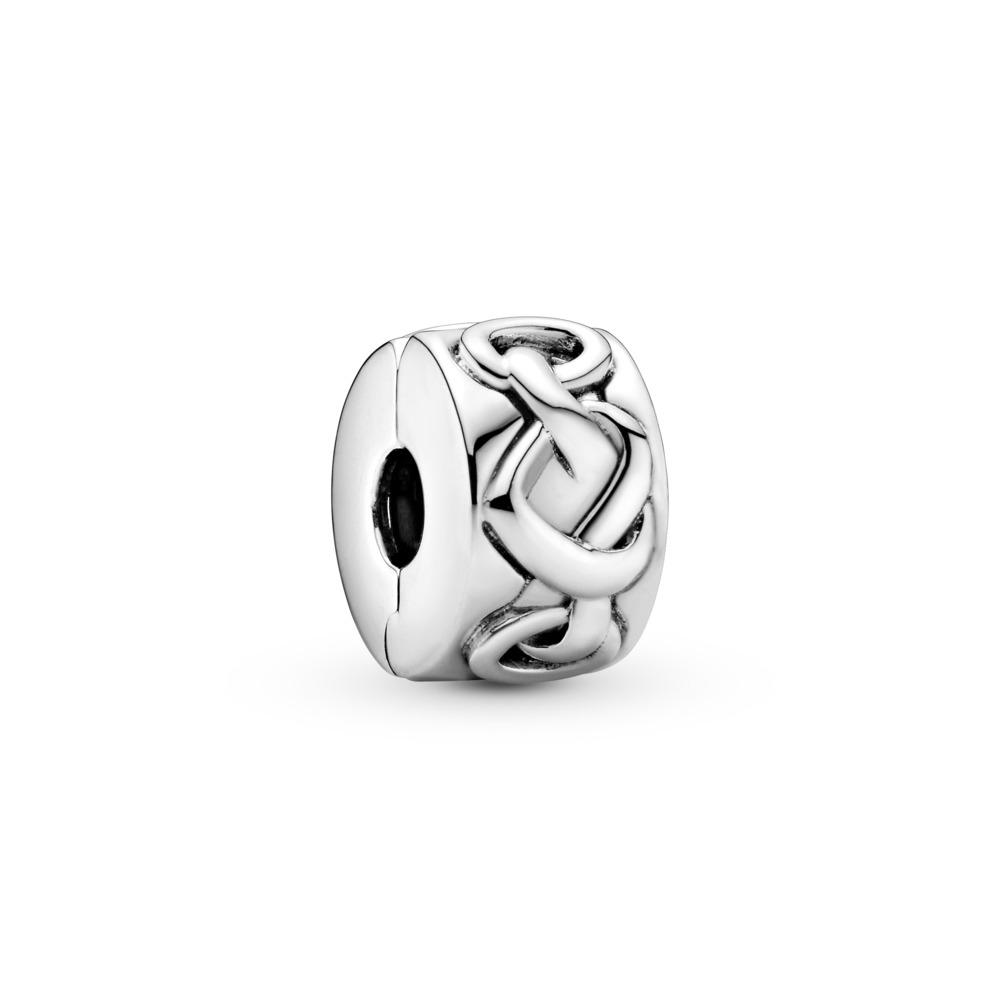 Clip Cœurs noués, Argent sterling, Aucun autre matériel, Aucune couleur, Aucune pierre - PANDORA - #798035