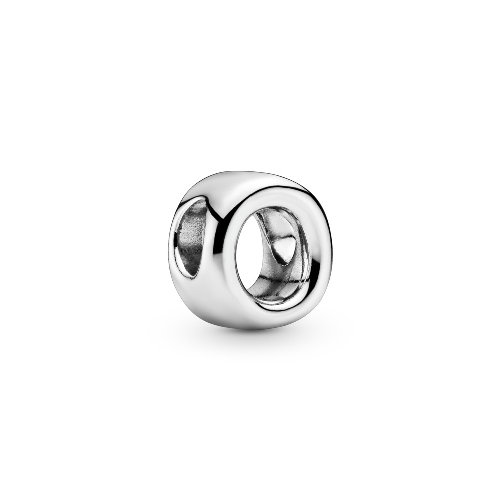 Letter O Charm, Sterling silver - PANDORA - #797469