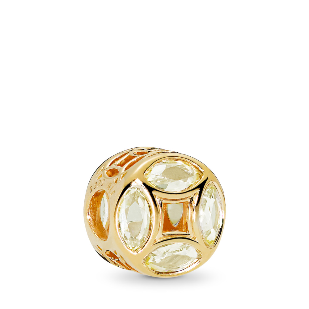 Good Fortune Coin, PANDORA Shine™, 18ct gold-plated sterling silver, Cubic Zirconia - PANDORA - #767821CSY