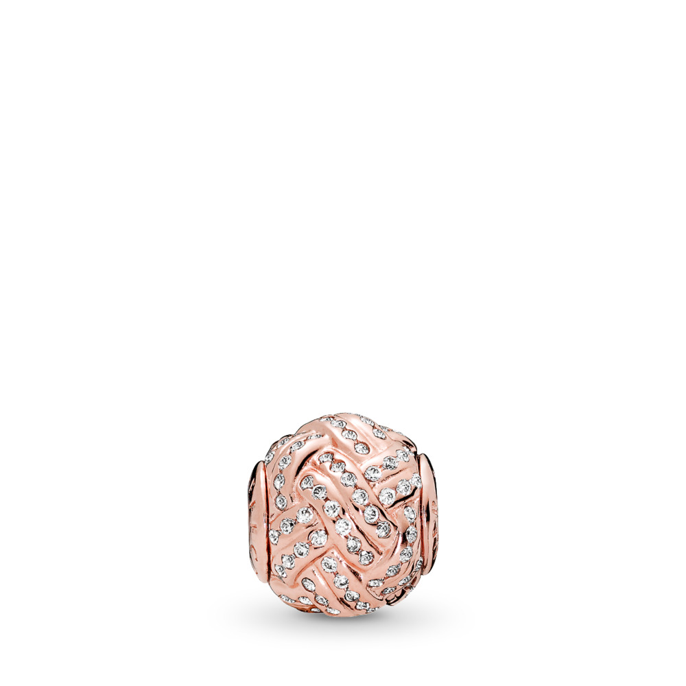 AFFECTION, PANDORA Rose™ & Clear CZ, PANDORA Rose, Silicone, Cubic Zirconia - PANDORA - #786303CZ